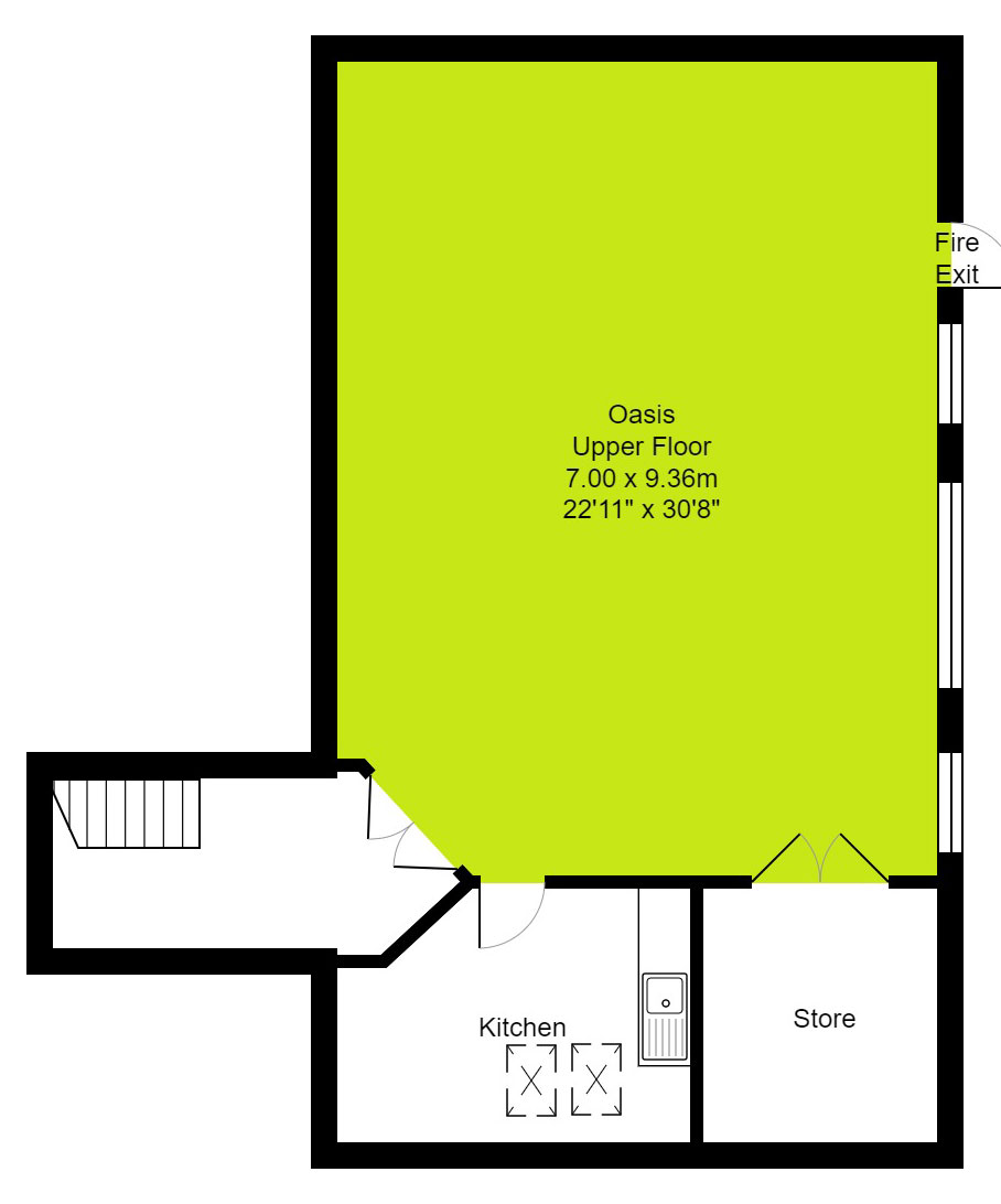 First Floor Oasis floor plan